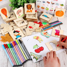 Детские деревянные игрушки для рисования трафареты шаблоны раскраска