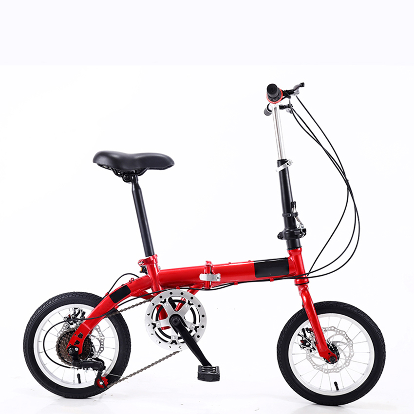 14 Inch Foldable Ultra-Light Bicycle Single/Variable Speed Portable Mini Bicycle Non-Slip Road Bike for Adult Children Student