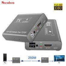 HDMI KVM USB 익스텐더 60Hz 250M RJ45 IP 네트워크 이더넷 KVM 스위처 익스텐더 CAT5e 6 By UTP/TCP, 모니터 마우스 키보드 용
