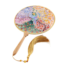 Colorful Embroidery Wedding Bridal Bouquet 2019 Silk Double Faced Flower Fan Bridesmaid Bouquet Wedding Accessories