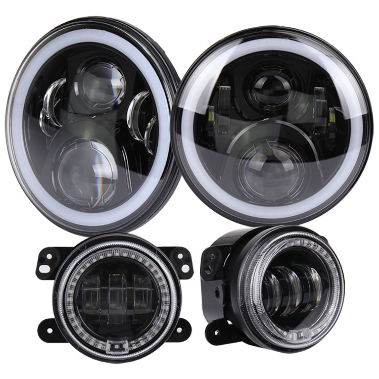 Manufacturers Selling 7 Inch Horsemen Of Headlight Fog Lamps Suit Combination 4 Inch 30 W RGB Car Headlights Fog Lamps