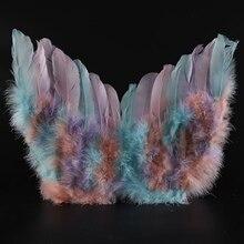 Красочные Крылья ангела, перья, Хэллоуин, вечерние крылья ангела, лебедя, наряд феи, маскарадный костюм, аксессуары для Хэллоуина