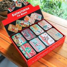 цена New 24 Pieces  95x65x20mm Flip-over Gift Tin Box DIY Storage Box Tea Box Candy Case Christmas Iron Box Sugar Box Gift Box Set онлайн в 2017 году