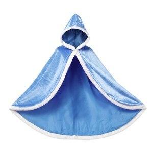 Image 5 - PaMaBa 6 색 따뜻한 어린이 소녀 망토 후드 인형 어린이 파티 의상 액세서리 Filles 신데렐라 Rapunzel 케이프 코트 Outwear