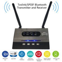 New Arrival Bluetooth 5.0 Transmitter Receiver NFC Audio Adapter APTx HD LL Optical 3.5mm RCA AUX for TV/Home Stereo Headphone