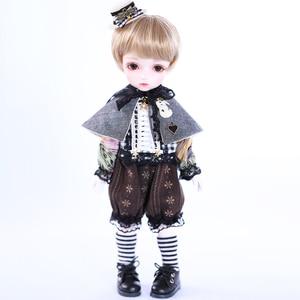 4 sztuk/zestaw Little Prince ubrania zestaw dla 1/6 lalki BJD zabawki akcesoria dla lalek dla dziewczynek wysokiej jakości-bez lalki