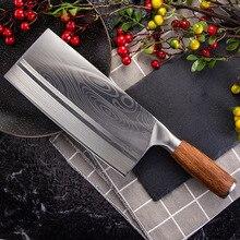 سكاكين تقطيع صيني من SHUOJI شفرة حادة للغاية سكين سمك اللحوم والخضروات 4Cr14 سكاكين مطبخ عالية الصلابة للطبخ