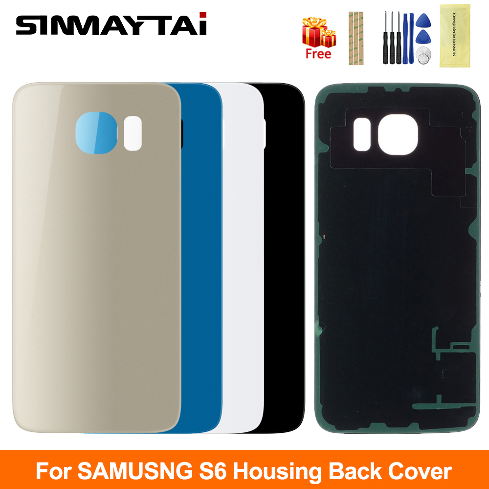 S6 Back Housing Case For Samsung Galaxy S6 Battery Back Cover Replacement Rear Door Housing Cover Case For Samsung G920 G920F image