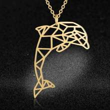 Unique Luxury Dolphin Necklace LaVixMia Italy Design 100% Stainless Steel Necklaces for Women Super Fashion Jewelry Special Gift(China)
