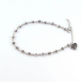 Boho Heart Charm Ankle Chain Beach Anklet Bracelet Barefoot Sandal  Antique Silver Color Jewelry Foot Anklet Bracelet For Women 1
