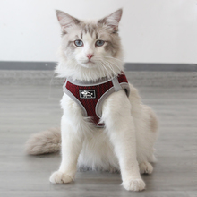 Reflective Pet Cat Vest Harness and Leash Set Honeycomb Breathable Puppy Cat Harnesses