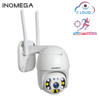 INQMEGA Cloud 1080P Outdoor PTZ IP Camera WIFI Speed Dome Auto Tracking Camera 4X Digital Zoom 2MP IR Onvif CCTV Security Camer