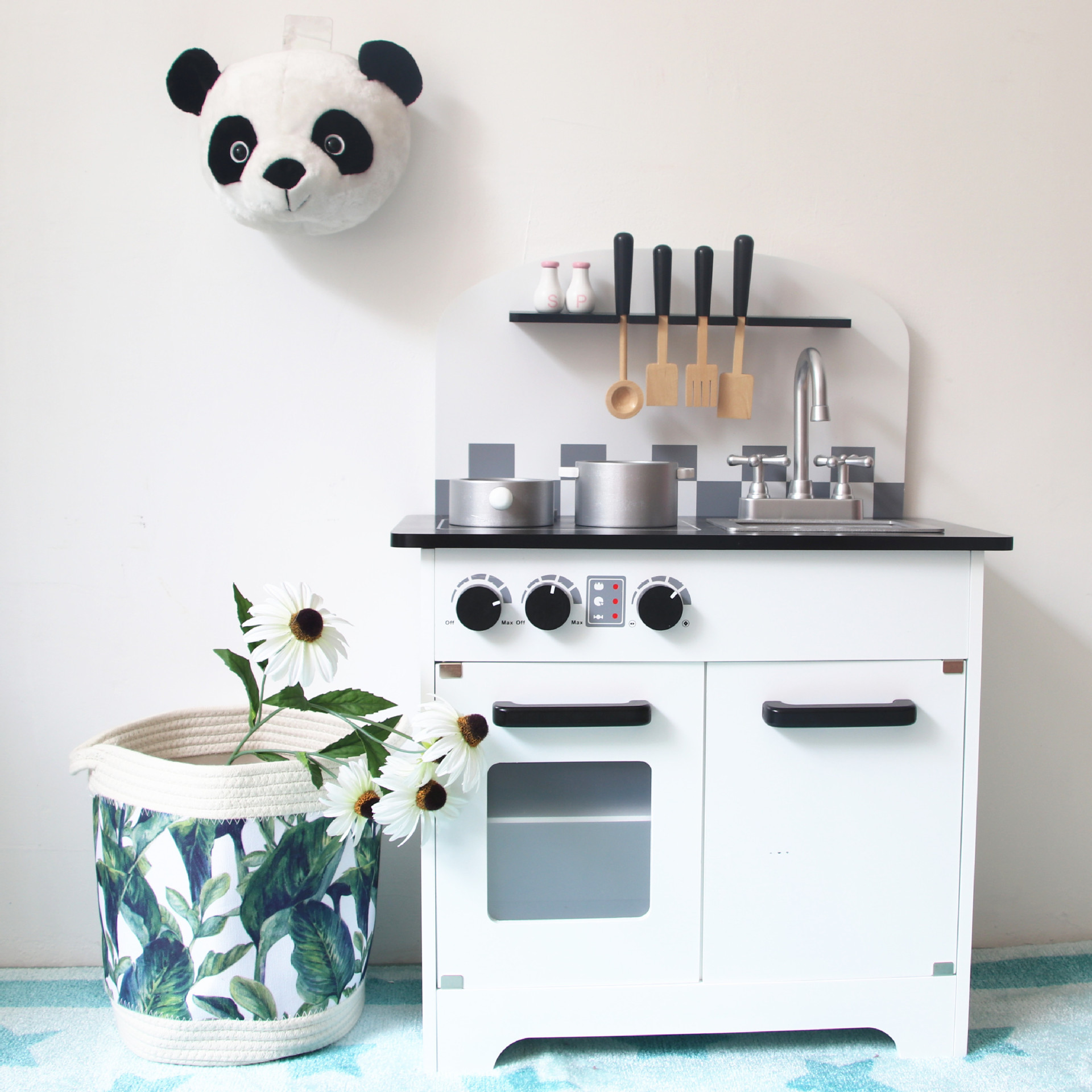 Style nordique décoration de chambre d'enfant cuisine en bois jouets éducatifs pour enfants décoration de crèche cadeau d'anniversaire