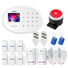 KERUI W20 WIFI GSM Smart Home Security Alarm System Motion Detector 433MHz Wireless RFID Card APP Remote Control Burglar Alarm