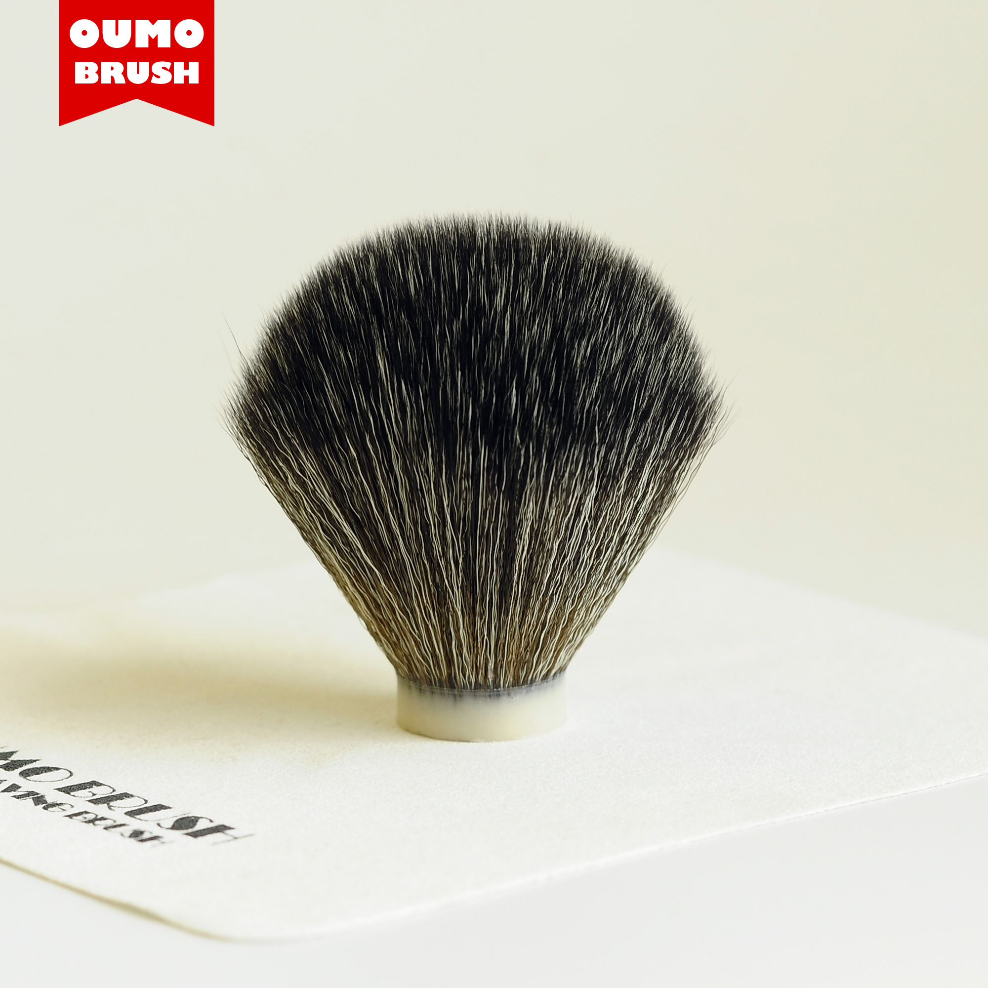 OUMO BRUSH- Imitate Mix Badger Knot  Synthetic Hair Knot Shaving Brush Knots