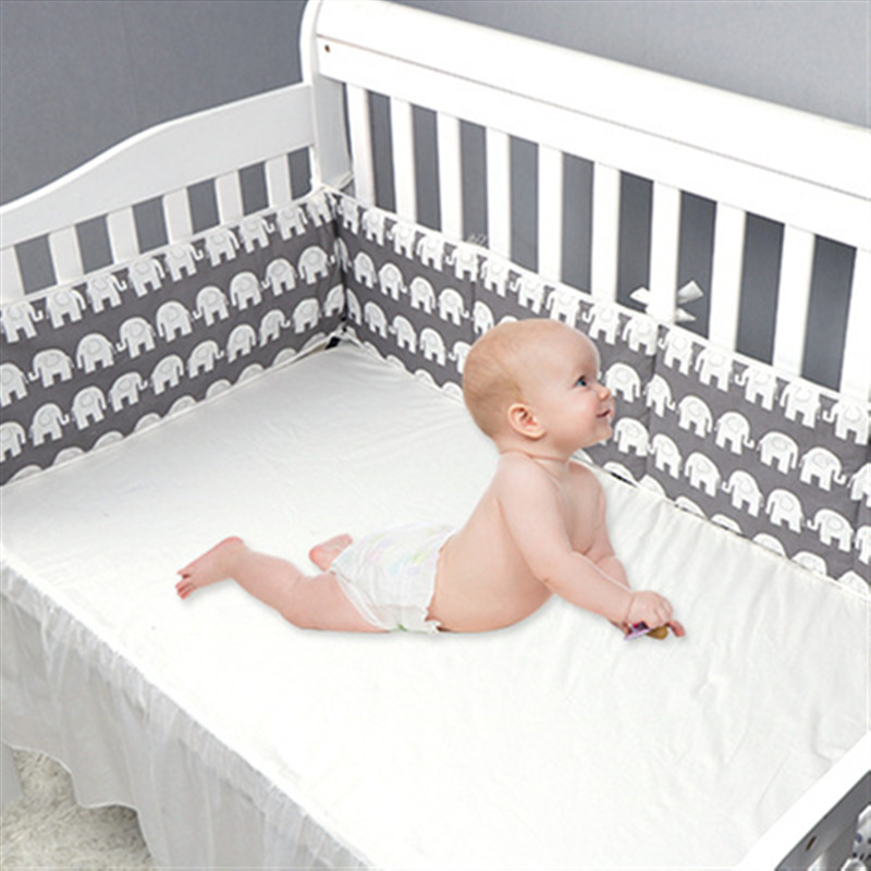 100% Cotton Baby Bed Bumper Pillow Cushion Newborn Bebe Cot Protector Safety Toddler Crib Bumper Fence