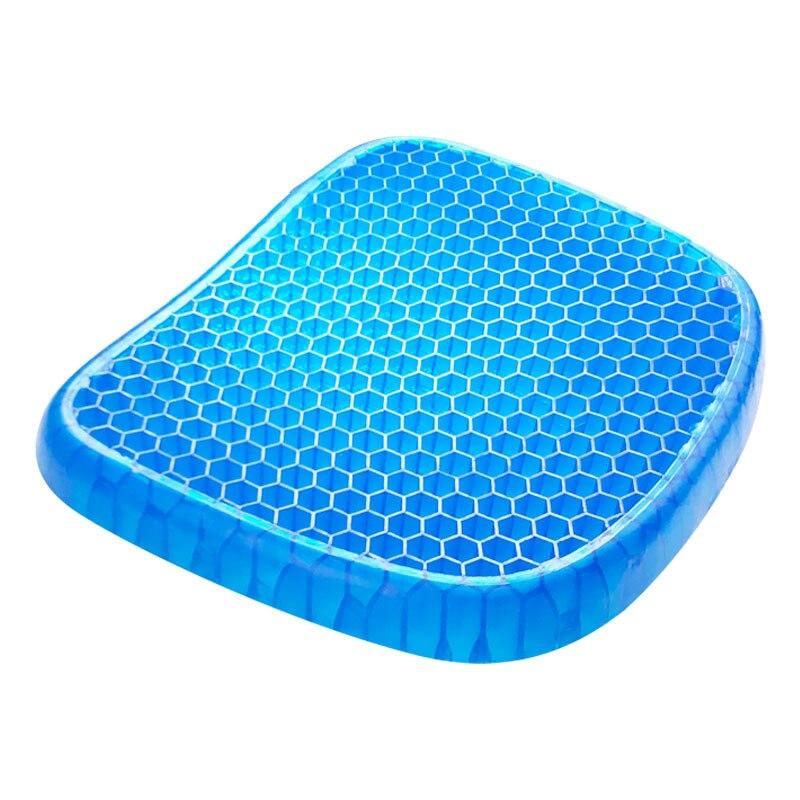 Almofada de assento de gel dupla camada antiderrapante respirável favo de mel ovo almofada de assento de gelo para cadeira de escritório do carro alívio da dor de cadeira de rodas