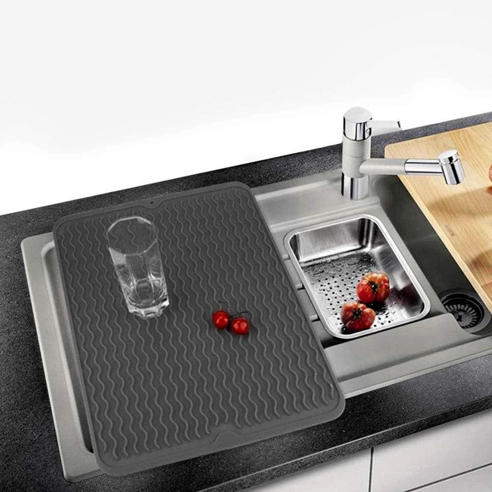 Silicone Dish Drying Mat Multifunctional Silicone Drain Pad Kitchen Drying Mat Heat Resistant Dishwasher Safe Dish Cushion Mats Pads Aliexpress