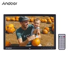Andoer atualizado 17 Polegada led digital photo frame álbum de fotos eletrônico 1080p máquina publicidade 1440*900 com controle remoto