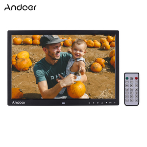 Image 1 - Andoer ulepszony 17 Cal LED fotografia cyfrowa ramka elektroniczny Album fotograficzny 1080P maszyna reklamowa 1440*900 z pilotem