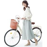 유틸리티 자전거 자전거 남성과 여성을위한 단일 속도 24 인치 전송 성인 도시 사이클링 학생 일반 사이클링