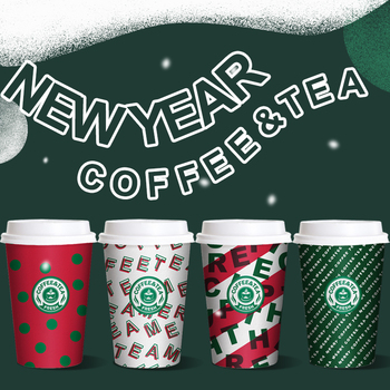 50pcs High quality disposable coffee cup 14oz 400ml 16oz 500ml Christmas party favors hot drink milk tea paper cups with lid