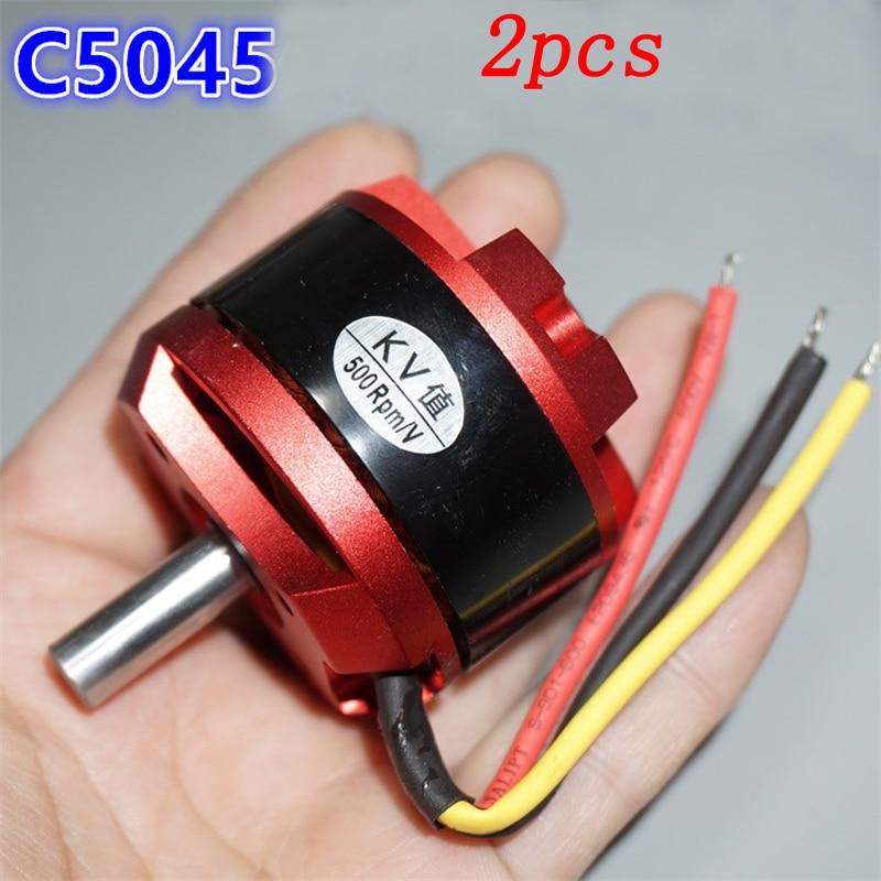 HOT Sell 2pcs C5045 Outrunner Brushless Motor KV600  KV800 KV900 Large Torque High Speed Motors For RC Airplane