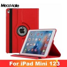 Кожаный чехол для iPad mini 1 2 3 чехол 360 Вращение флип-подставка 7,9 ''чехол для iPad mini 1 2 3 Smart Cover