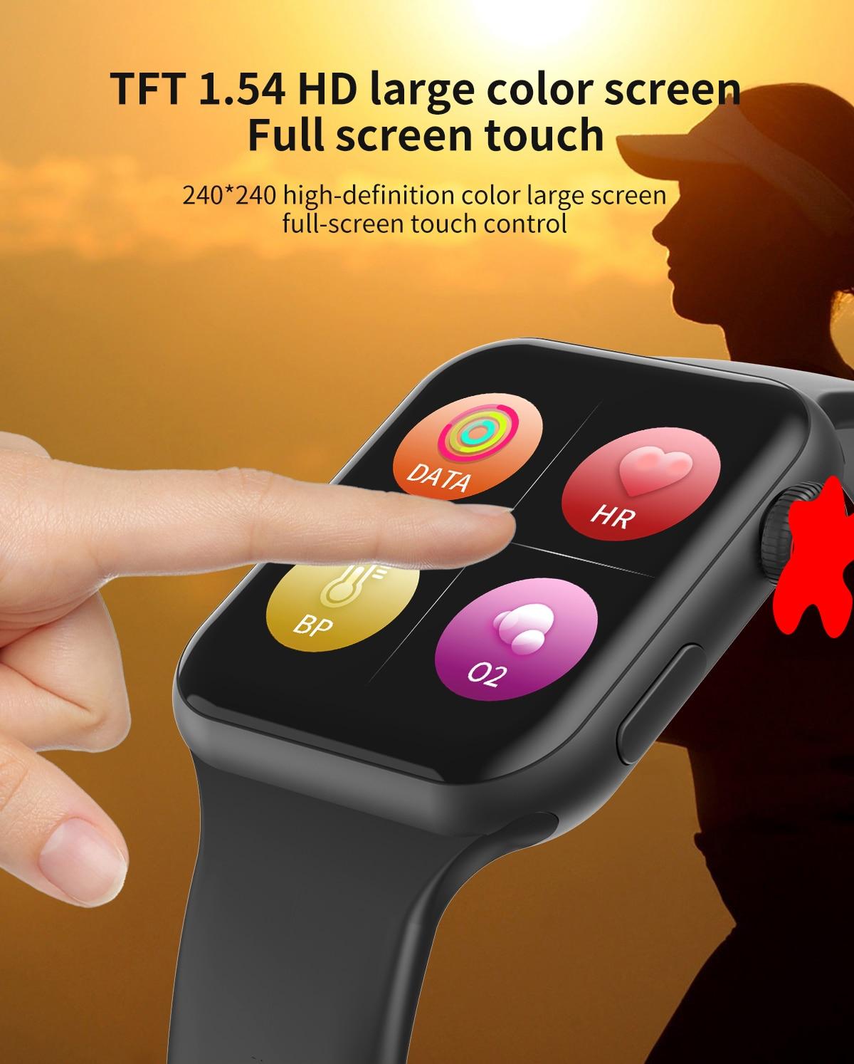 H1d592ffdc7834d9d88ebafe047c8fd9cK 696 New Style F10 Smart Watch Full touch screen Bluetooth Smartwatch Music Camera Heart Rate Monitor Waterproof Smart Bracelet