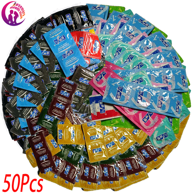 50 Pcs Condoms Adult Large Oil Condom Smooth Lubricated Condoms For Men Penis Contraception Intimate Erotic Sex Toys Products 2