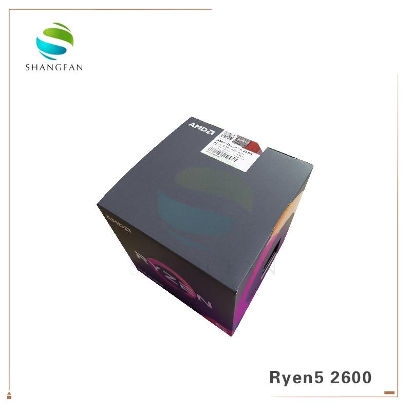 AMD Ryzen 5 2600 R5 2600 3.4 GHz Six-Core Doze-Core YD2600BBM6IAF 65W Processador CPU com refrigerador de ventoinha de refrigeração Soquete AM4