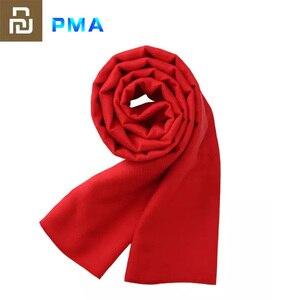 Image 1 - Youpin PMA Grafene Riscaldamento Sciarpa 3 Gear Regolabile Tessuto In Fibra di Acqua Lavabile Interfaccia Caldo Molle Unisex regalo Rosso