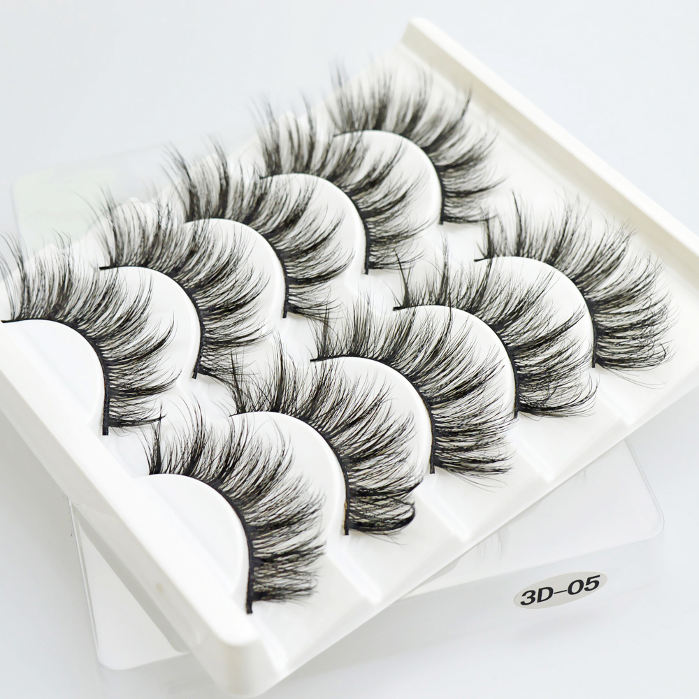 5pairs Magnetic Eyelashes Extension Natural False Eyelashes On Magnets Reusable 3D Magnetic Fake Eye Lashes Makeup Soft Easy To