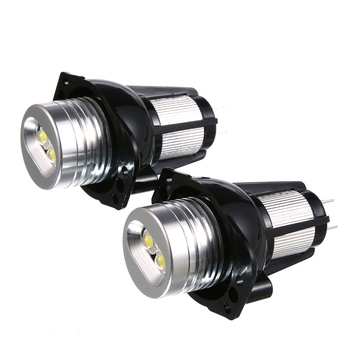 2 PCS Car Lamp E90 Angel Eyes Halo Ring LED Light 6W Marker Bulb Xenon White For E90 E91 BMW Automobile Accessories image