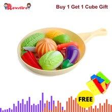 Кубик+ 5 Тип дети ролевые игры игрушка кухня резка еда завтрак игровой набор/морская Еда/гамбургер еда игровой набор/резка овощи