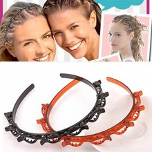 Hairstyle Headband Double-Bangs-Clip Hairdressing Christmas-Hairbands Capelli Cerchietto