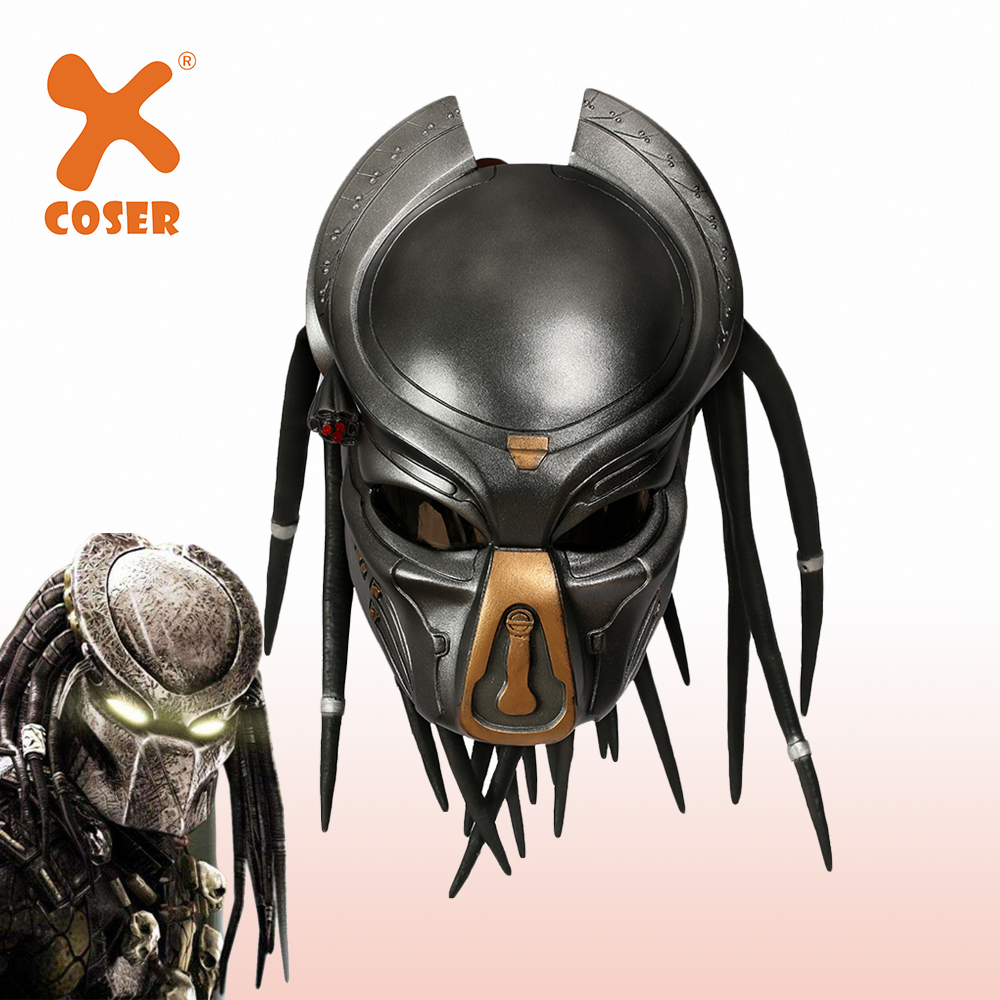 XCOSER Alien Predator Helmet Resin Cosplay Helmet Full Head Mask Stylish Helmet Halloween Costume Props Holiday Party Cosplay