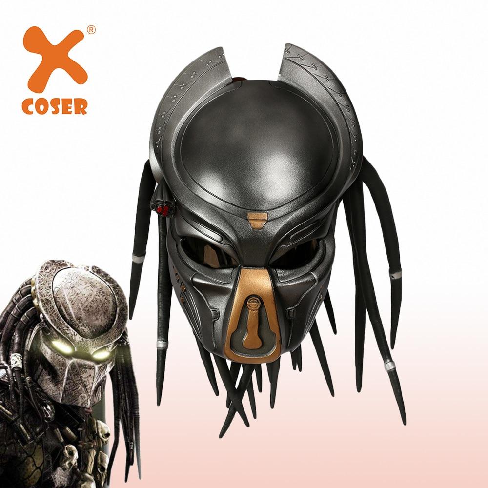 XCOSER Alien Predator Helmet Resin Cosplay Helmet Full Head Mask Stylish Helmet Halloween Costume Props Holiday Party Cosplay