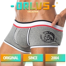 20 Styles ORLVS Brand Trunk Mens Boxers Cotton Sexy Men Underwear Mens Underpants Male Panties Shorts U Convex Pouch for Gay cheap Boxer Shorts OR49 Print
