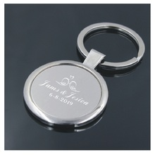 100pcs wedding gift favors for guest personalized keychains custom free with your wish text and artwork