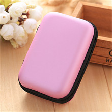 Pink Mini Hold Case Storage Case For Headphones Earphone Earbuds Carrying Hard Bag Box Case For Keys Coin Travel Earphone Acc(China)