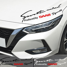Car Styling Vinyl Lamp Eyebrow Sticker Reflective Sports Decal Decor For SAAB 9-3 9-5 900 9000 SAAB 93 95 Exterior Accessories(China)