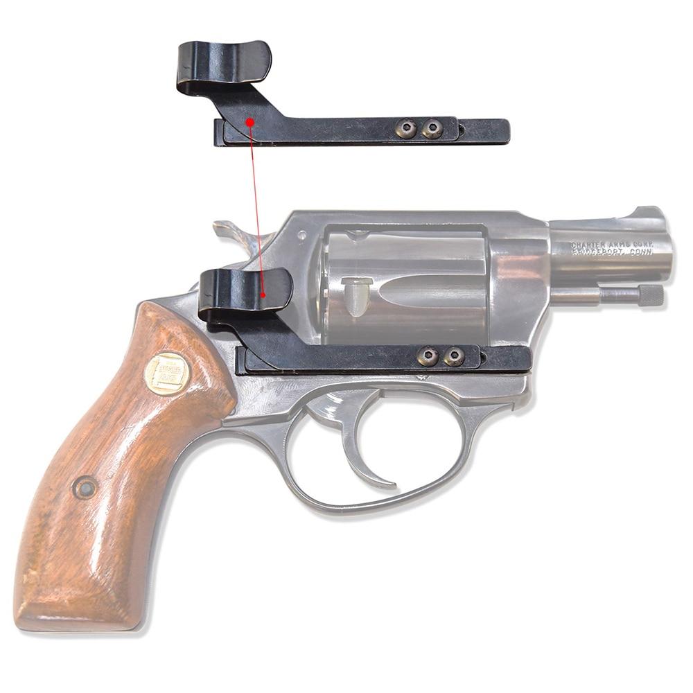 Mano Derecha e Izquierda Opcionales Gexgune Funda de Pistola de Caza Funda de Transporte Oculta Pistola de Clip de Metal de Cuero de PU para Pistola Glock 17 19 23 32