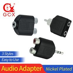 3,5 мм штекер на 2 RCA разъем папа на гнездо 3,5 мм Джек на RCA Y сплиттер конвертер Стерео AV аудио адаптер