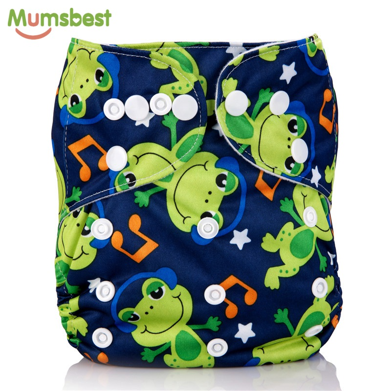 [Mumsbest] Baby Cloth Diaper Reusable Diapers Cover One Size Adjustable Washable Baby Cloth Nappy Waterproof  Breathable Nappies