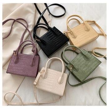 2020 модная трендовая женская маленькая сумка через плечо из искусственной кожи, сумка через плечо, Классическая сумочка на молнии с крокодил...