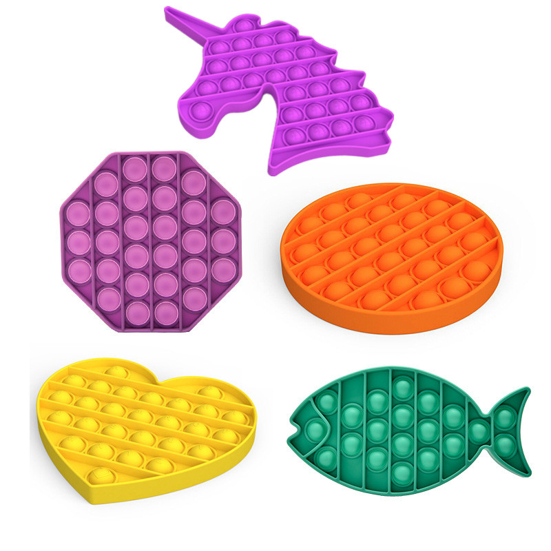 Fidget stres oyuncaklar itme kabarcık Fidget duyusal oyuncak otizm özel İhtiyaçları stres rahatlatıcı çocuk komik hediye Pops It Fidget