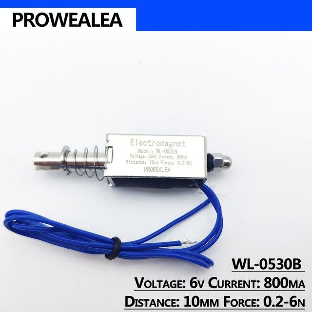 Фото электромагнит с нажимным вытяжением модель wl 0530b 5 в 6 в