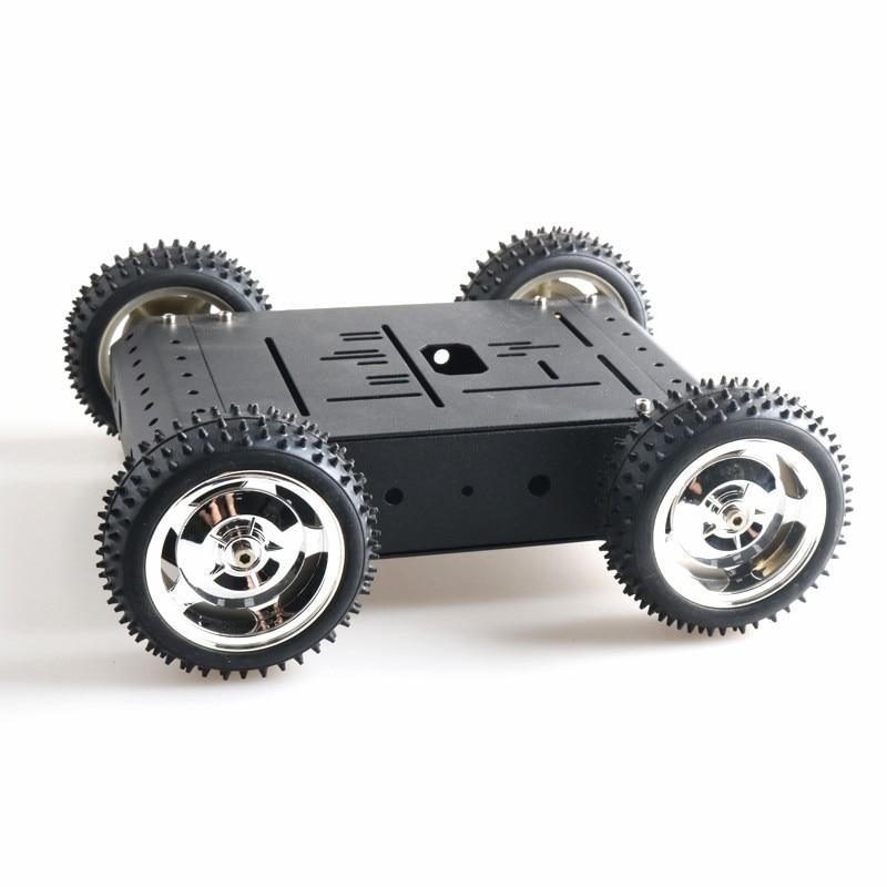85mm roda de borracha desmontado robô móvel