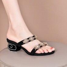 женщины тапочки летние повседневные туфли Кристалл сандалии женщины сплошной вырезать Вечеринка Ретро платье свадебное черное золото